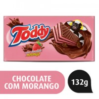 Biscoito Wafer Chocolate e Morango Toddy 132g