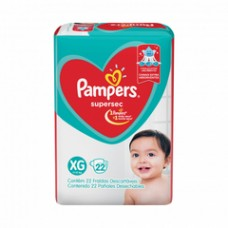 Fralda Pampers Supersec XG 22un